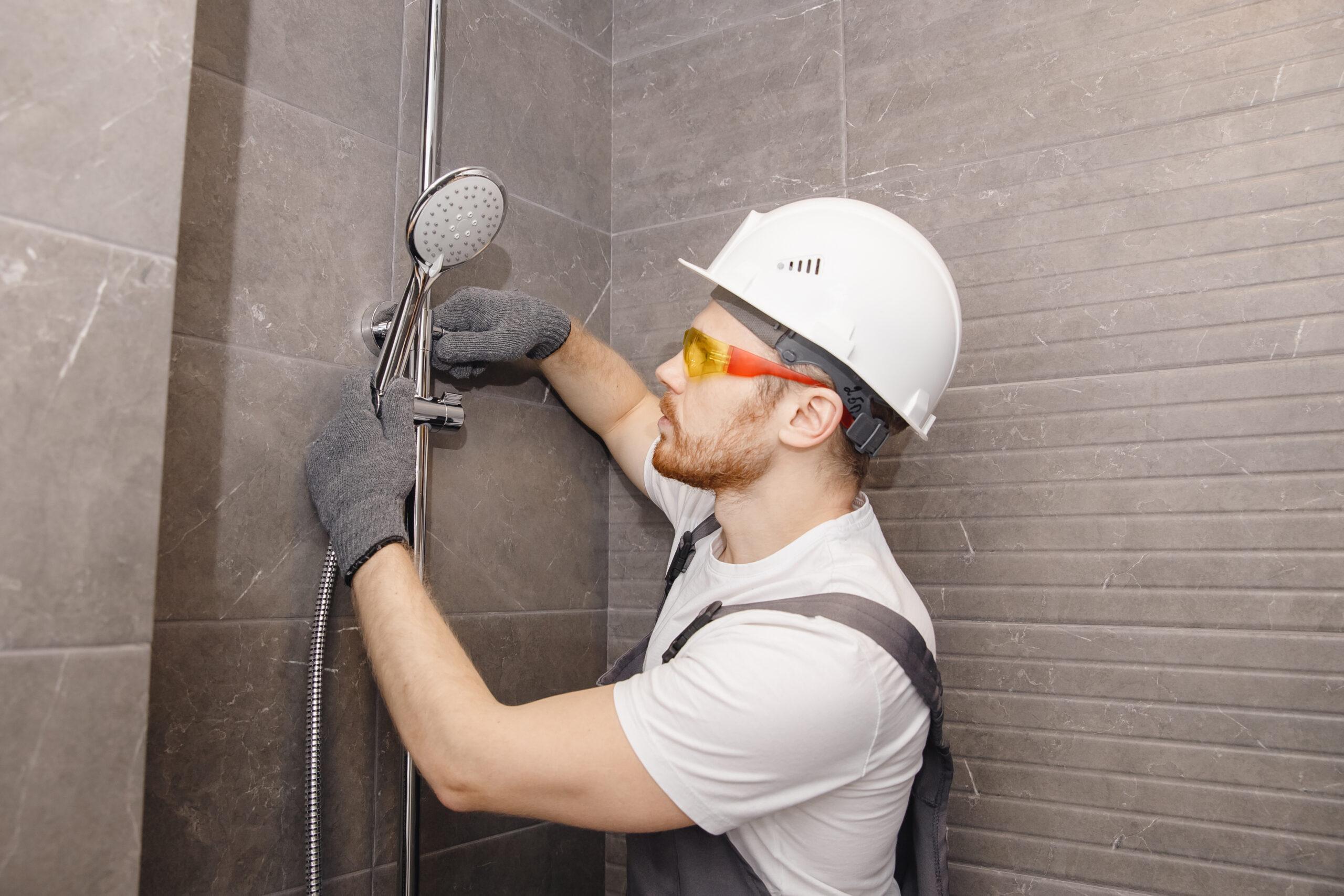 photo plombier douche salle bain