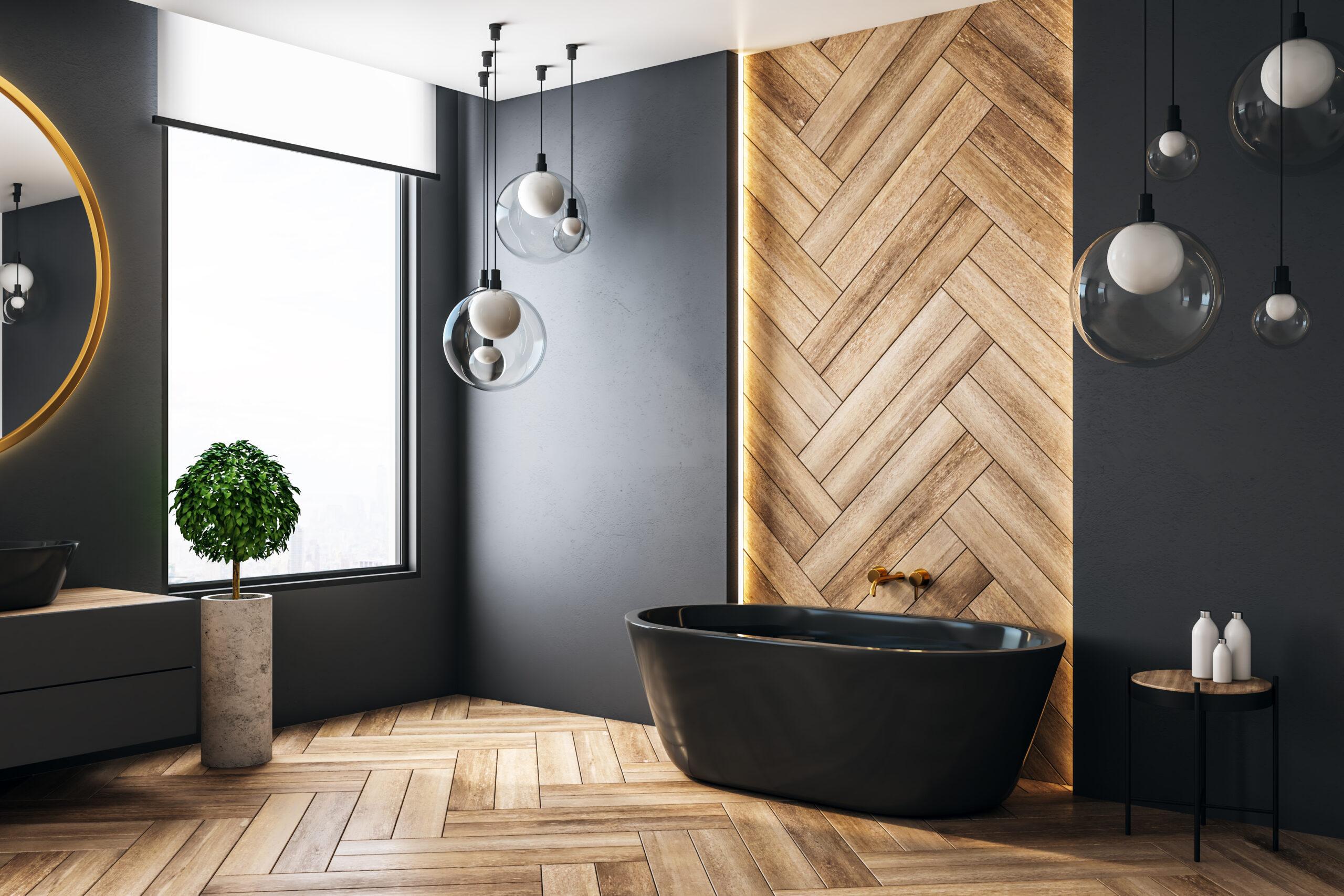 photo salle bain moderne bois