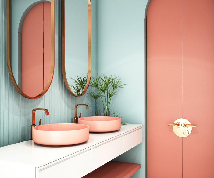 photo salle bain art deco