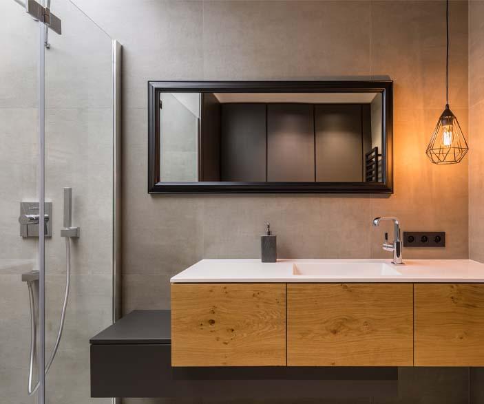 photo sdb salle bain loft industriel