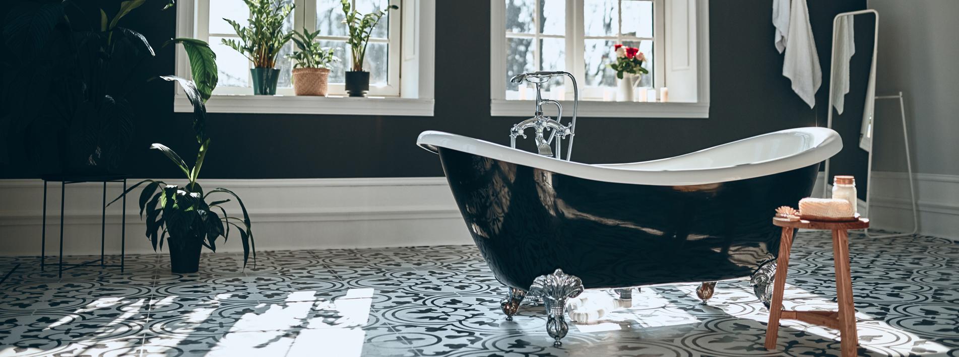 photo salle bain vintage