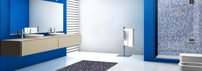 photo salle bain vitamine moderne bleu