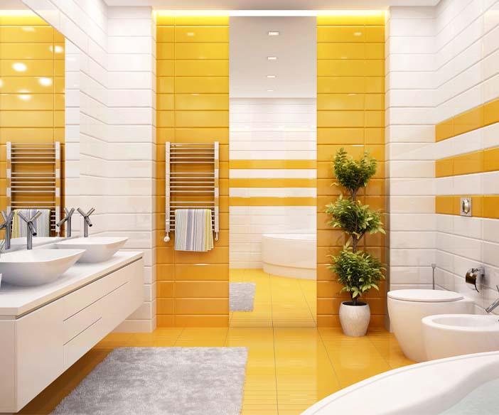 photo salle bain vitamine jaune