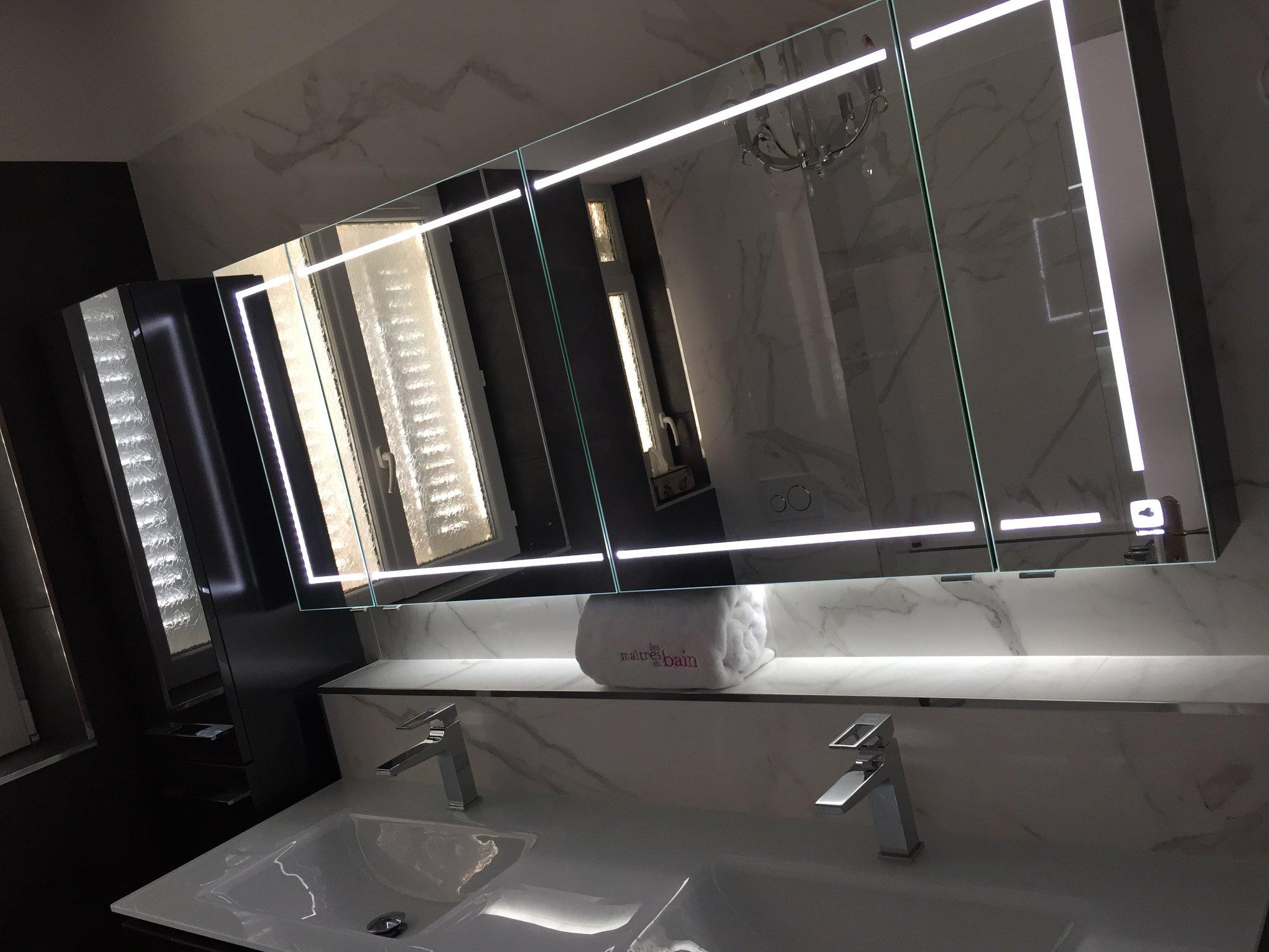 salle de bain classique art deco lion