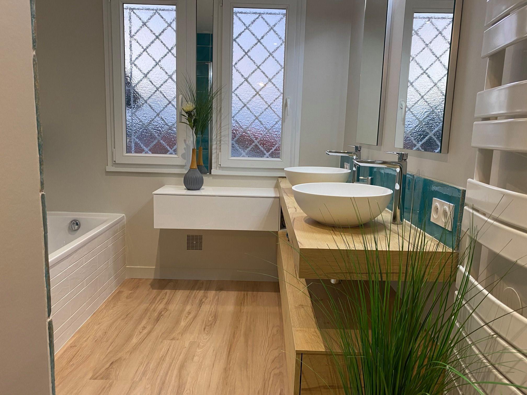 salle bain boheme chic vasque baignoire