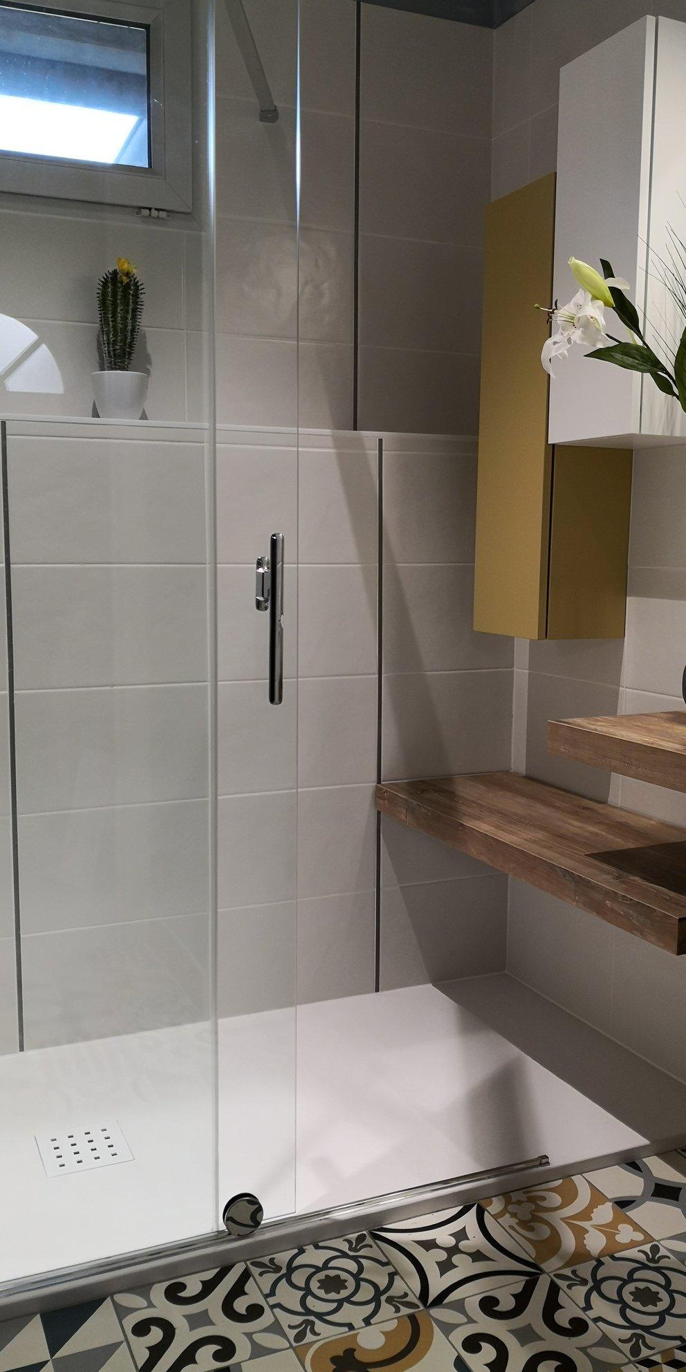 salle bain boheme chic douche