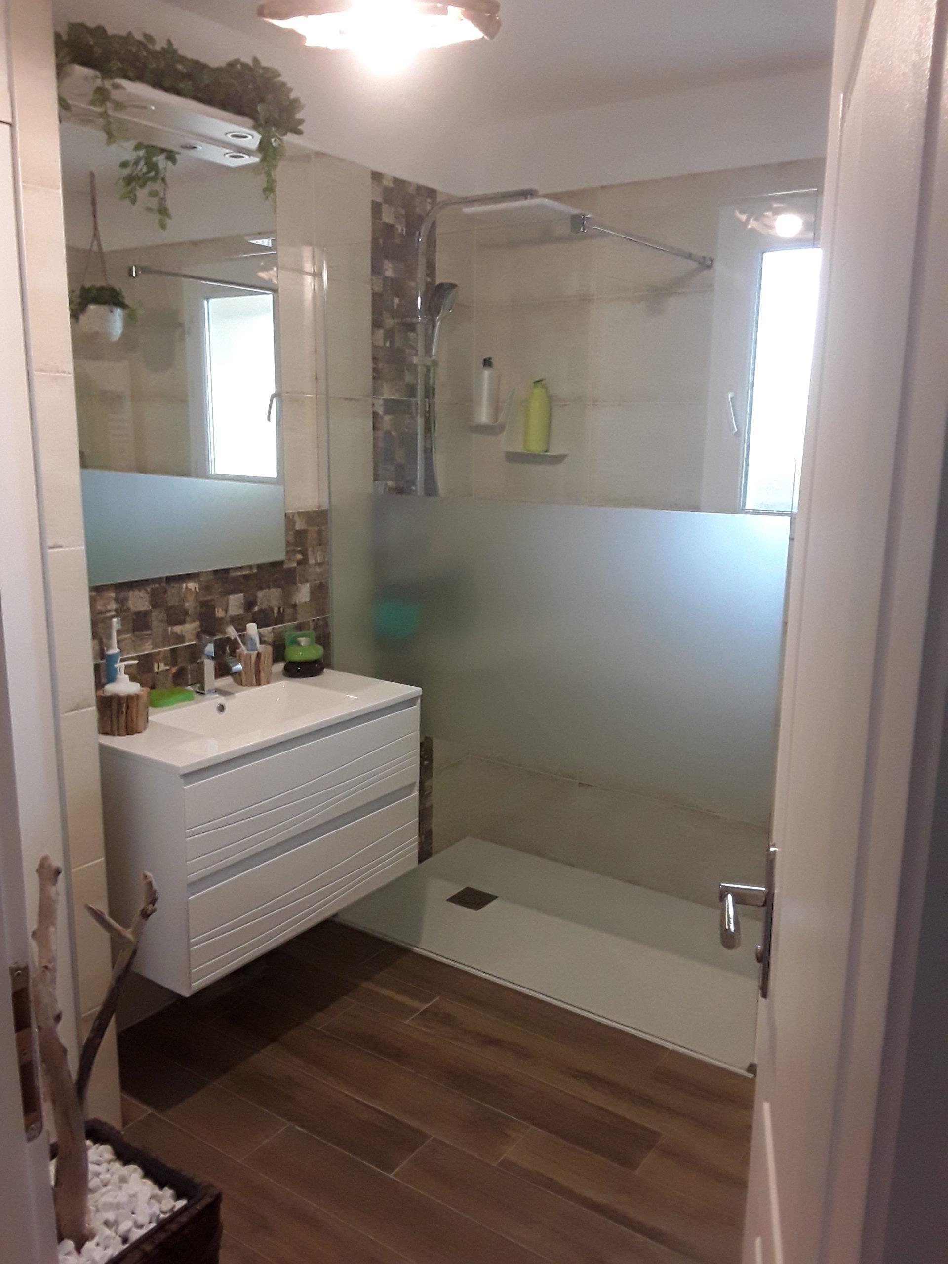 projet salle bain confortable naturelle apres