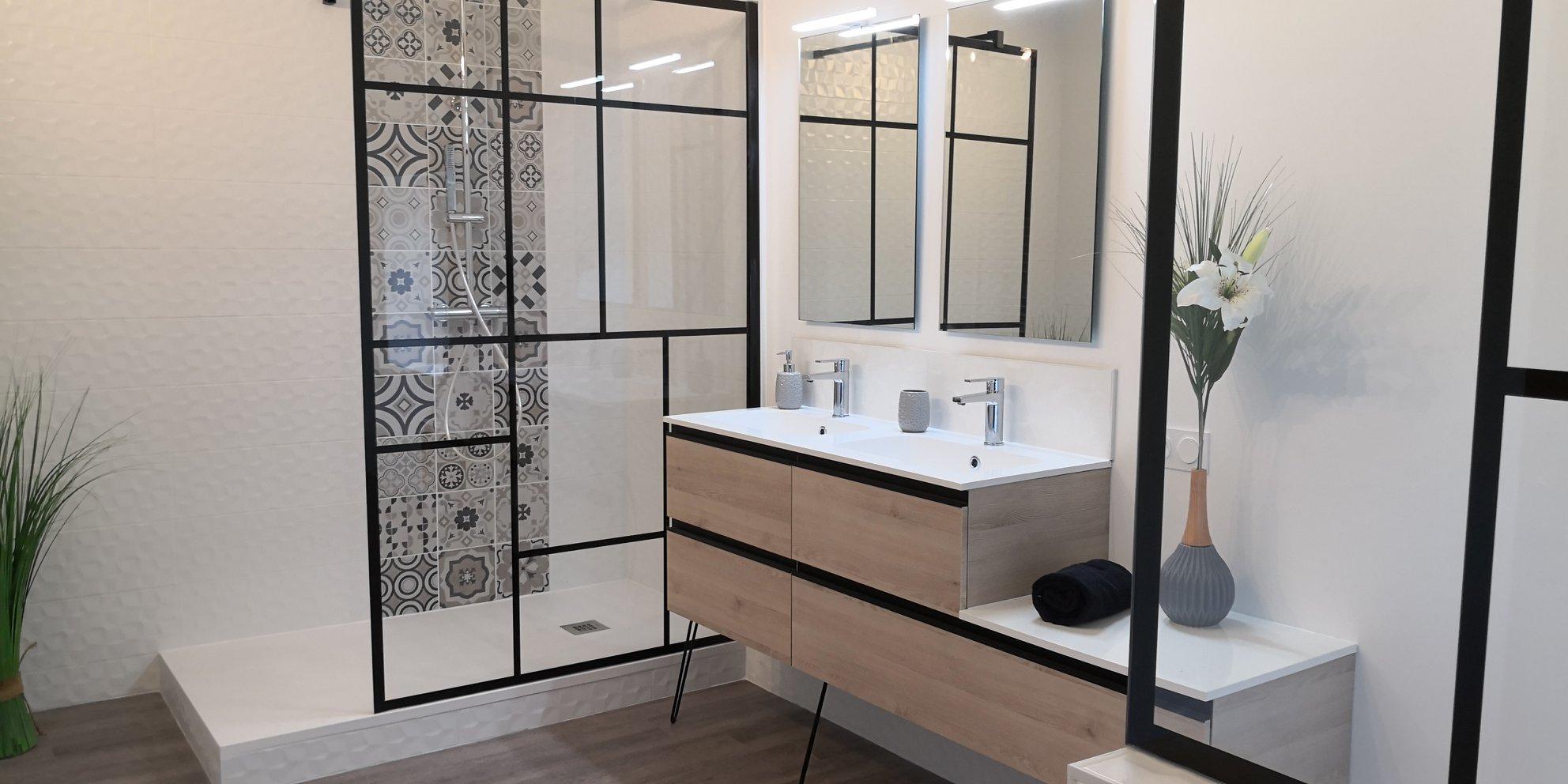 salle de bain industriel loft