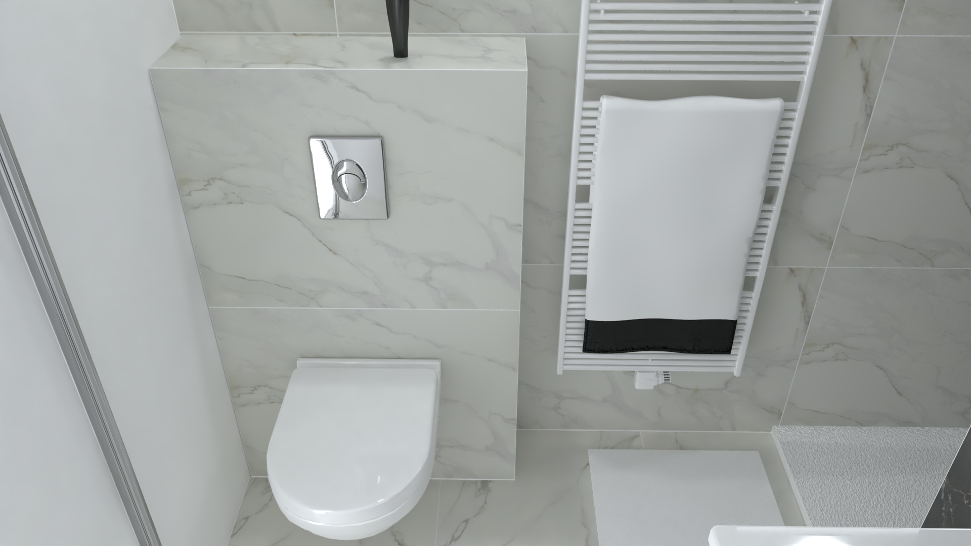 projet salle bain mobilier chic