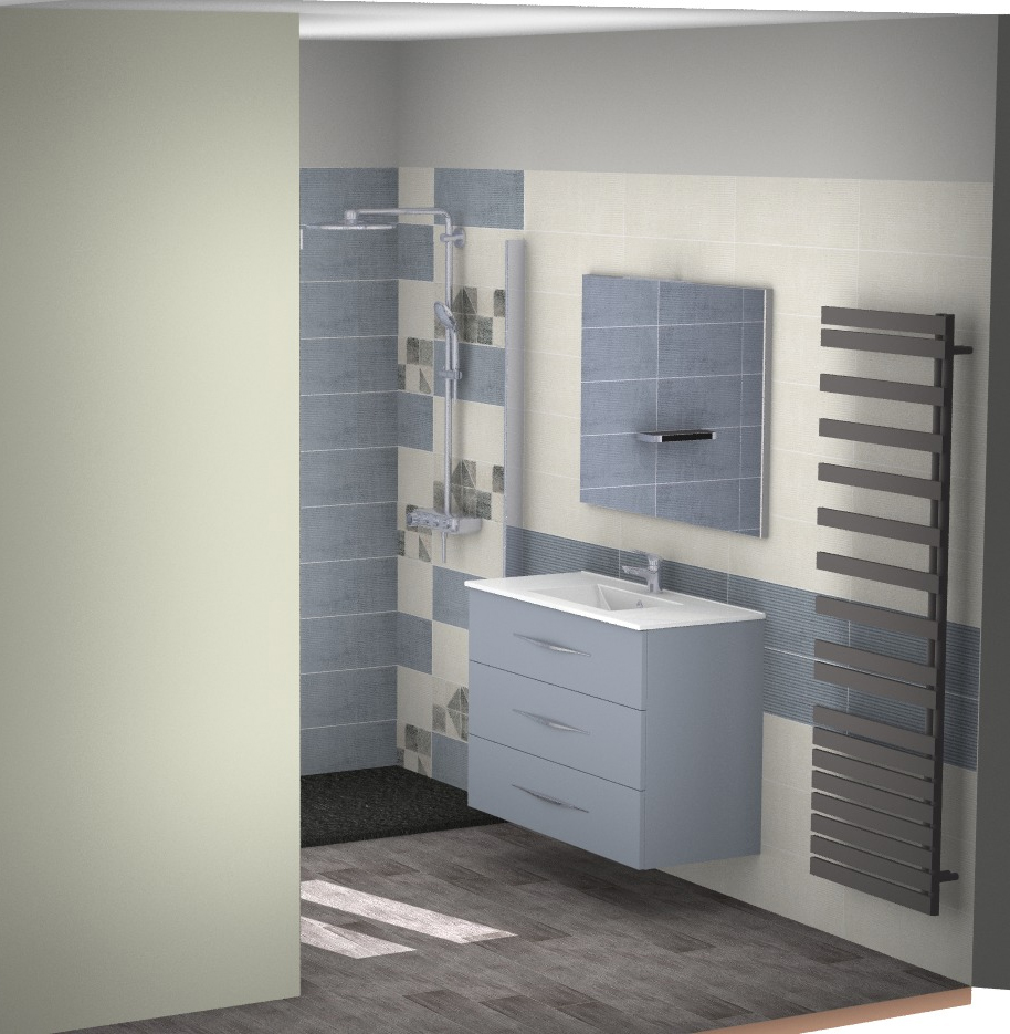 projet salle bain moderne fonctionnelle 3d