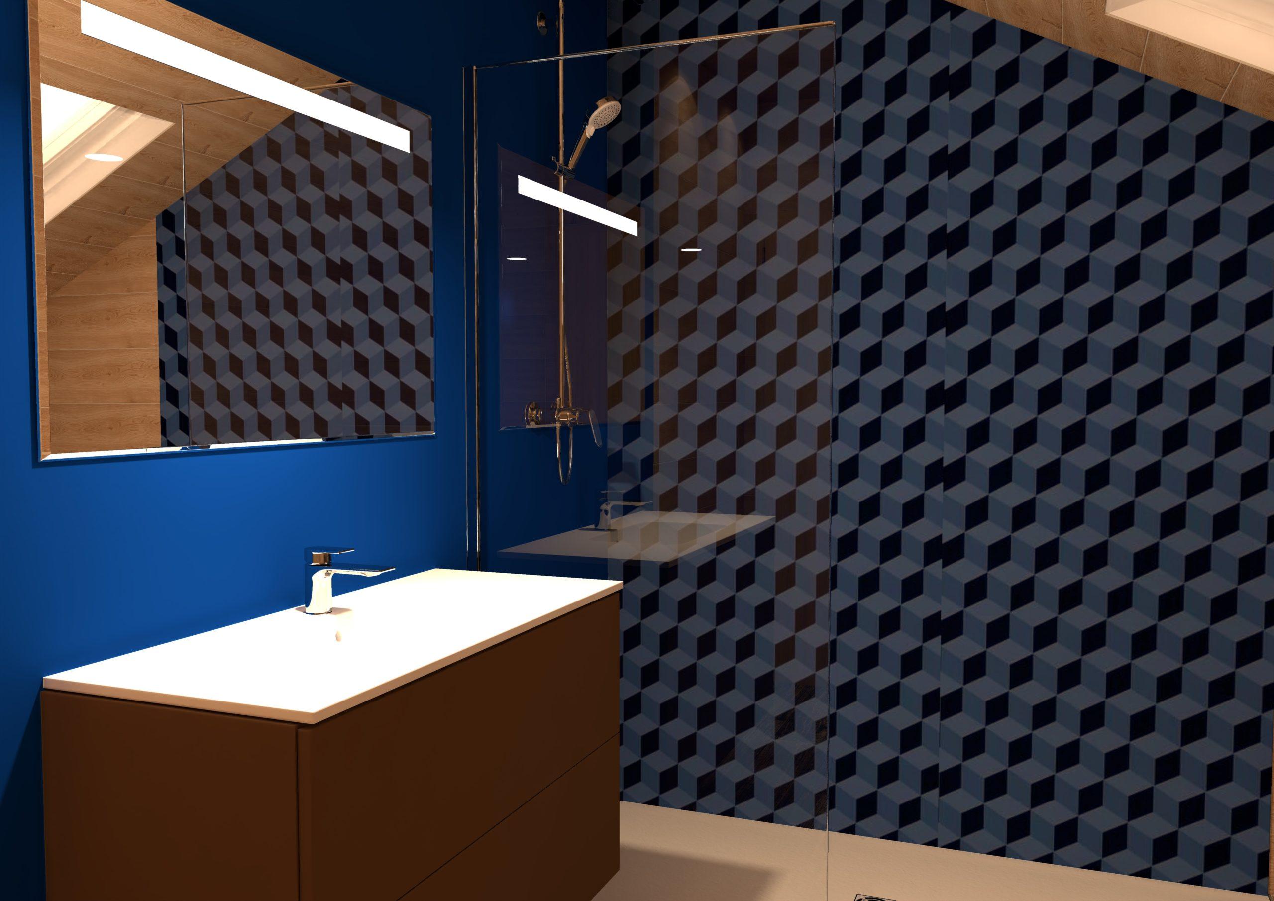 Projet salle bain coloree vitamine apres bleu